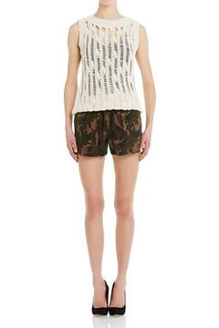 CUT25 BY YIGAL AZROUEL Camo Suede Shorts - Alternate List Image