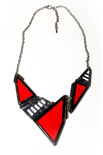 Shoptiques Product: Red Geo Necklace - main