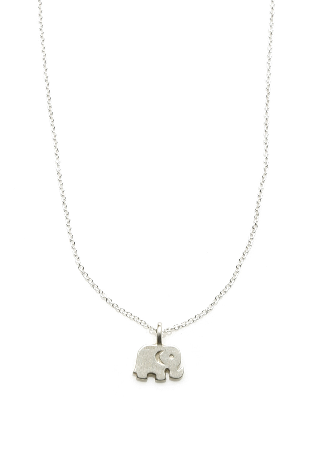 Dogeared Silver Elephant Necklace - Front Full Image
