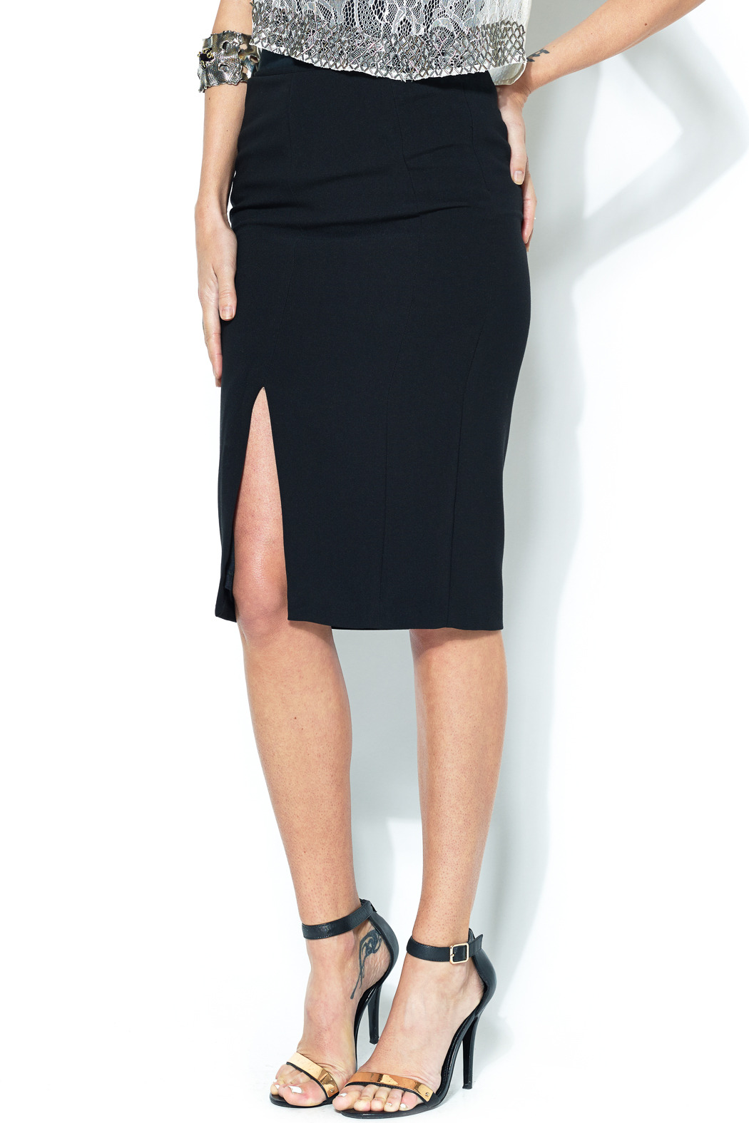 Esley Collection Front Slit Pencil Skirt From Bucktown By Beyond Boutique Shoptiques