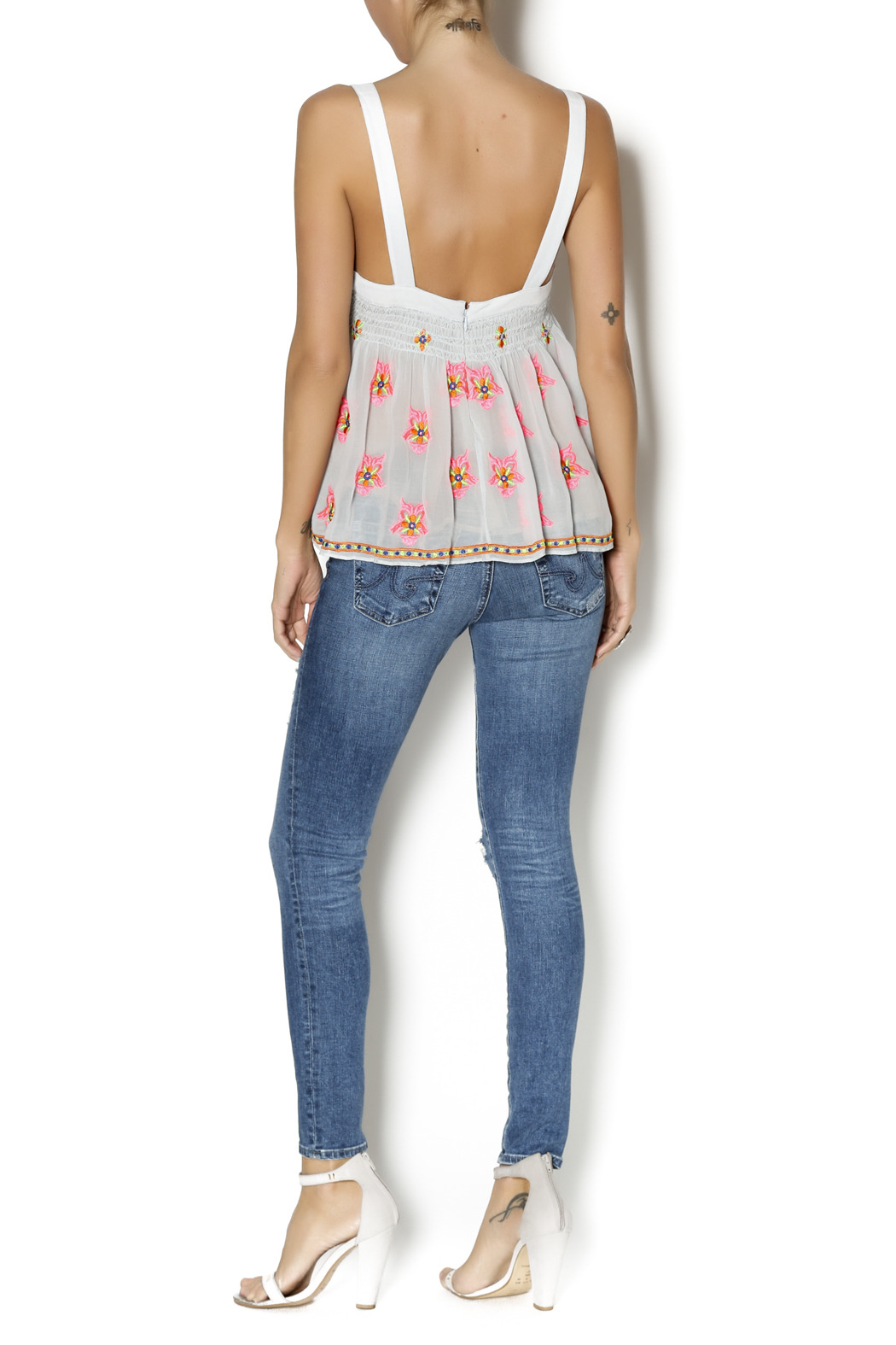 Plenty by Tracy Reese Flirty Tank Top - Side Cropped Image