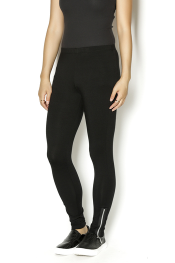 Shoptiques Product: Long Zipper Leggings - main