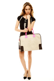 Alex-Max Large Suede Neon Bag - Side cropped