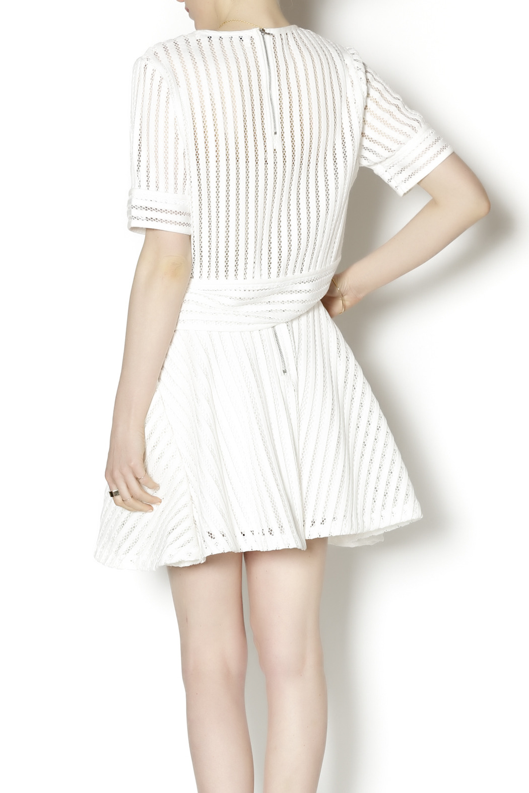 English Factory White Knit Two Piece - Back Cropped Image