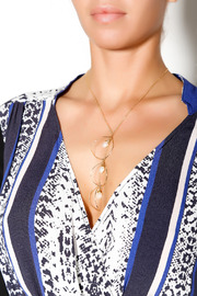 ZIA Boutique Luna Gold Necklace - Back cropped