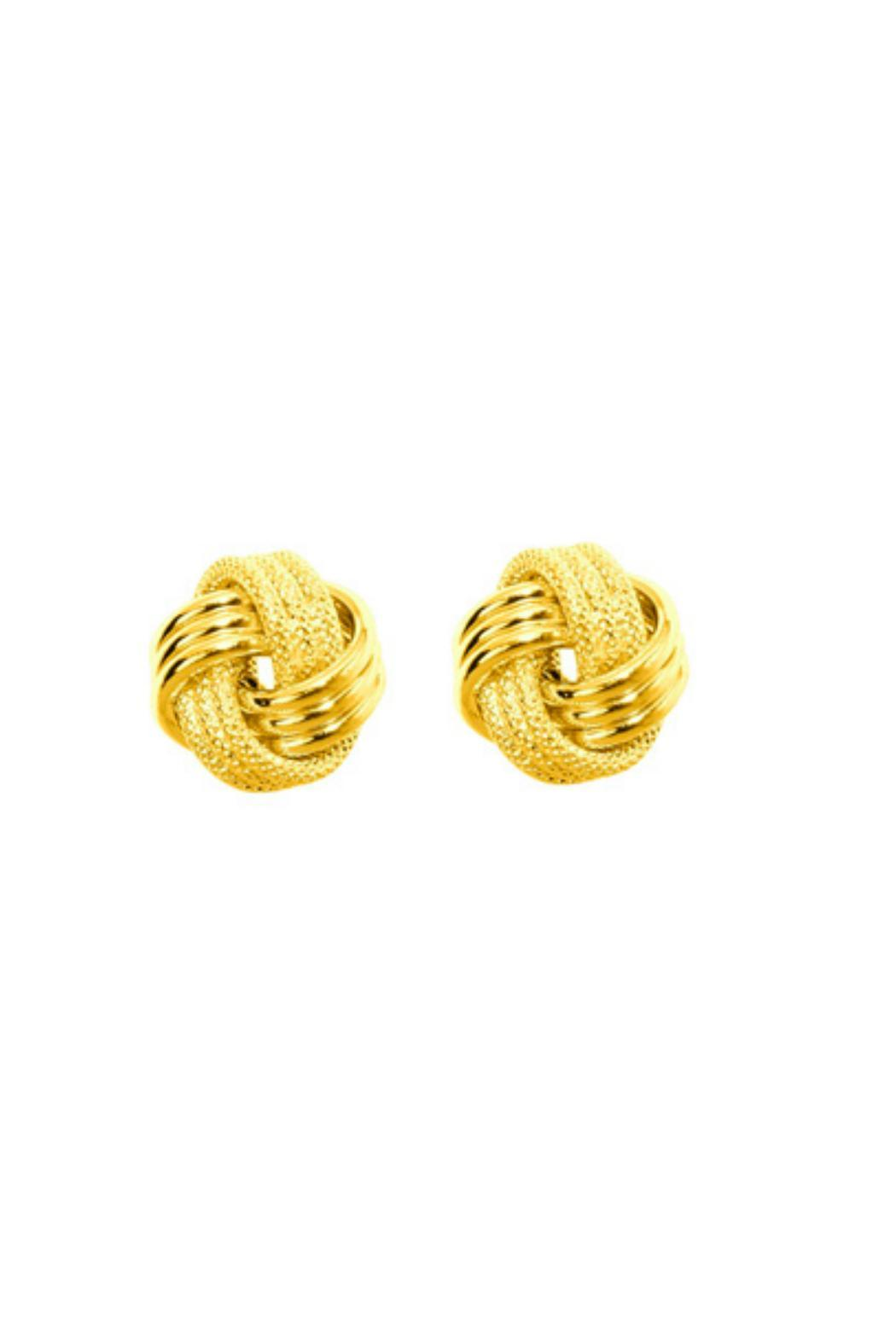 6th Borough Boutique 14k Gold Studs - Front Cropped Image
