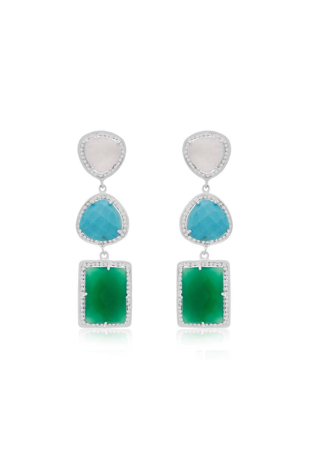6th Borough Boutique 20ct Gabby Earrings - Main Image