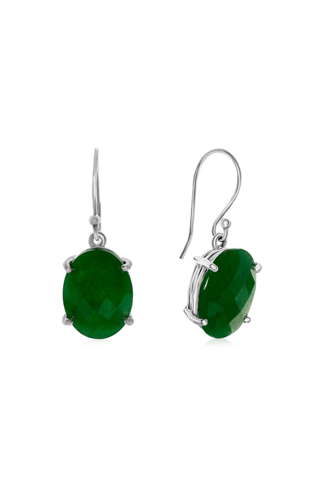 6th Borough Boutique Jade Drops Earrings - Main Image