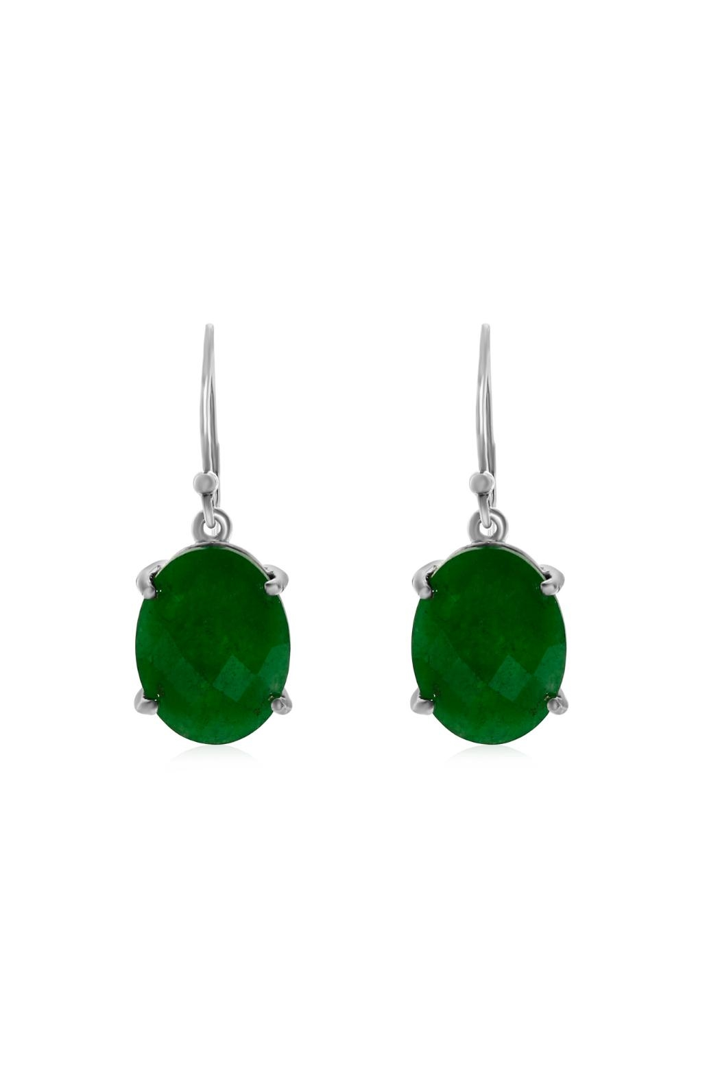 6th Borough Boutique Jade Drops Earrings - Front Full Image