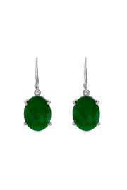 6th Borough Boutique Jade Drops Earrings - Front full body