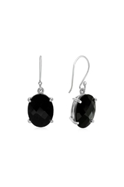6th Borough Boutique Onyx Drop Earring - Product Mini Image