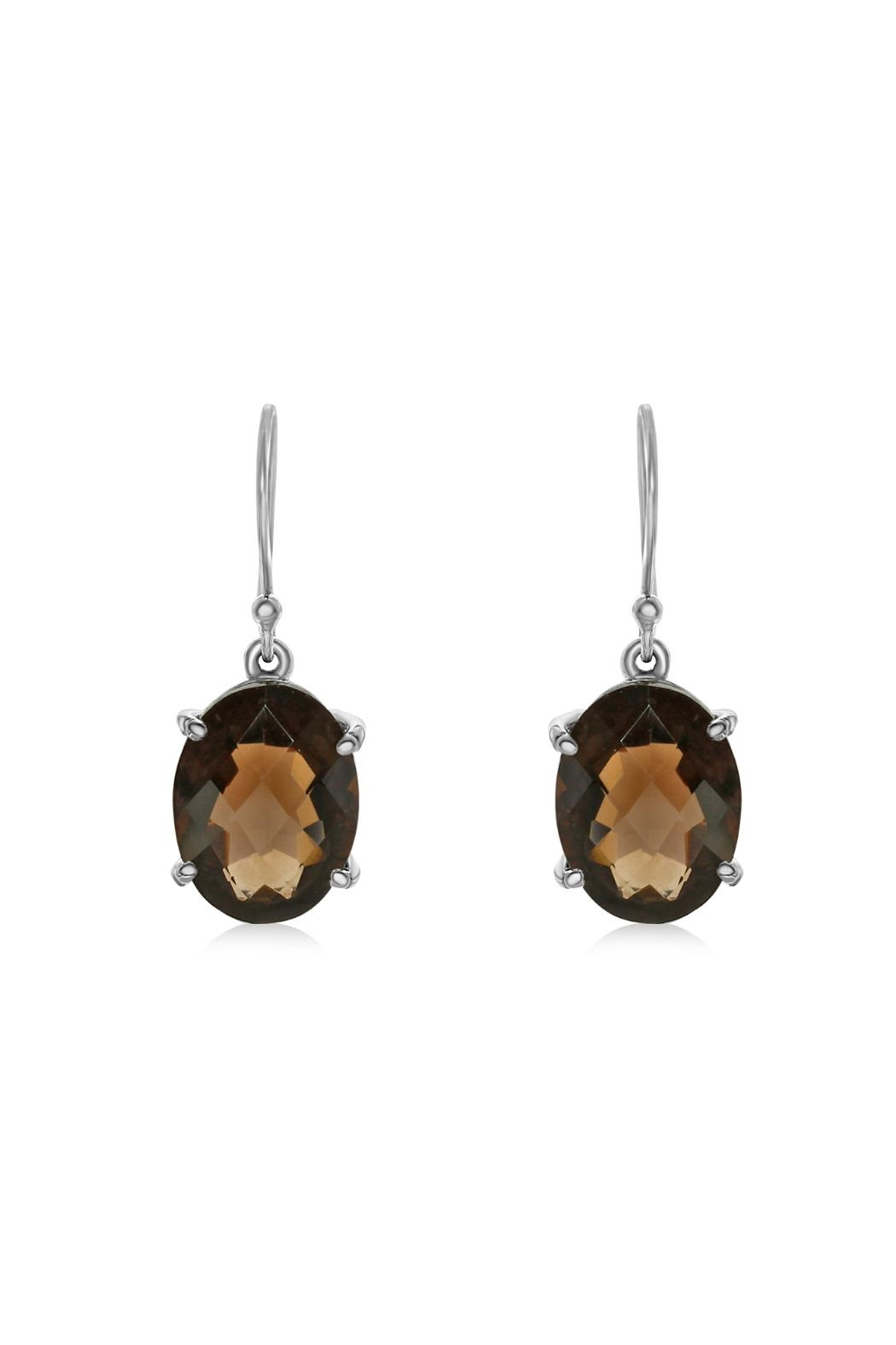 6th Borough Boutique Quartz Drops Earrings - Front Full Image