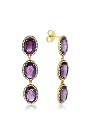 6th Borough Boutique Amethyst Cassie Earrings - Product Mini Image
