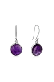 6th Borough Boutique Amethyst French Hook Earrings - Product Mini Image