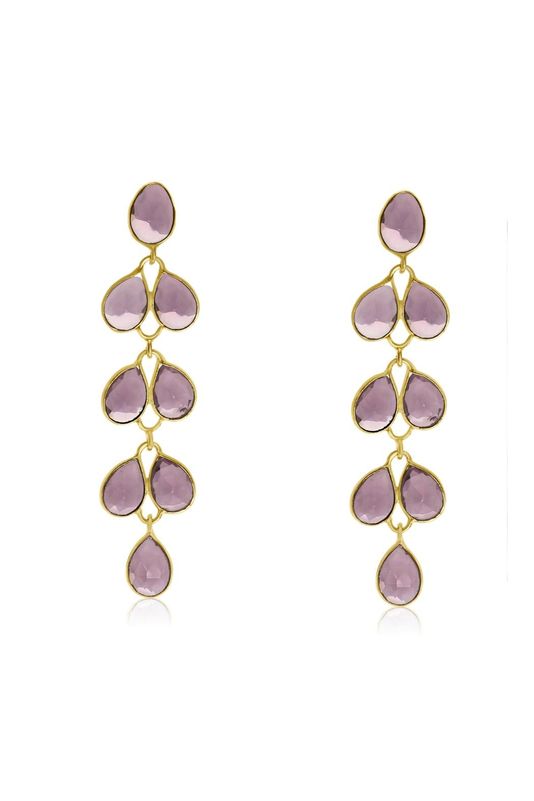 6th Borough Boutique Amethyst Maddie Earrings - Main Image