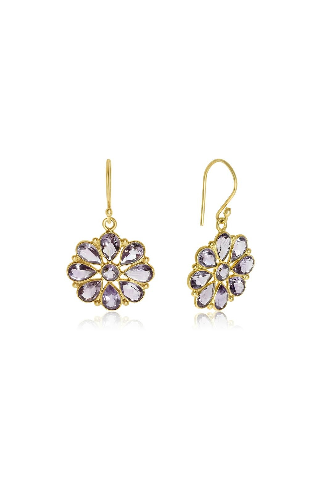 6th Borough Boutique Amethyst Summer Earrings - Main Image