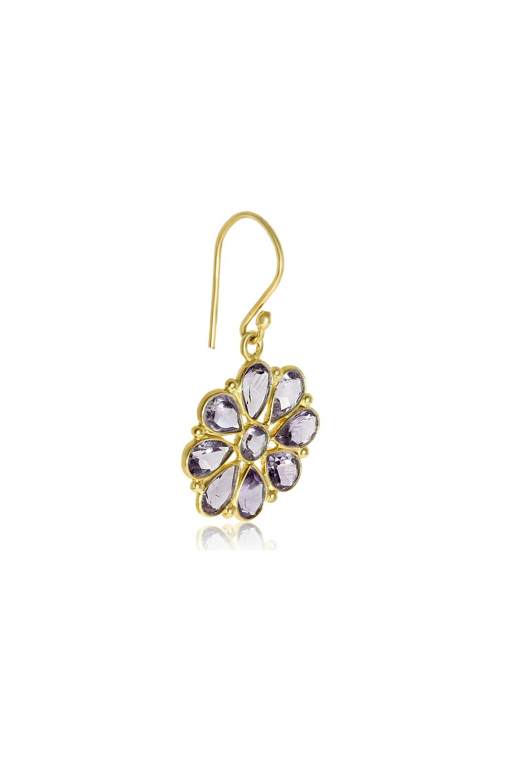 6th Borough Boutique Amethyst Summer Earrings - Side Cropped Image