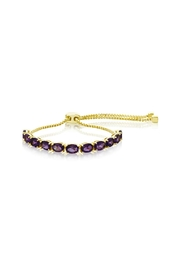 6th Borough Boutique Amethyst Whitney Bracelet - Front cropped