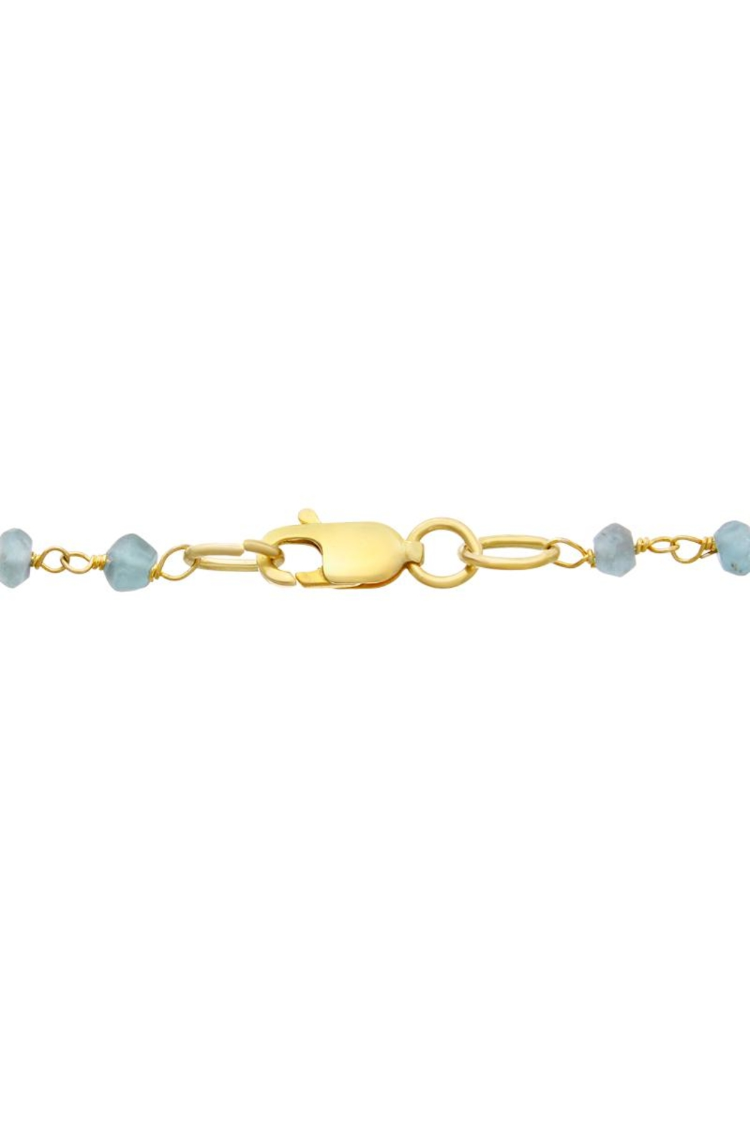 6th Borough Boutique Chalcedony Disc Necklace - Side Cropped Image