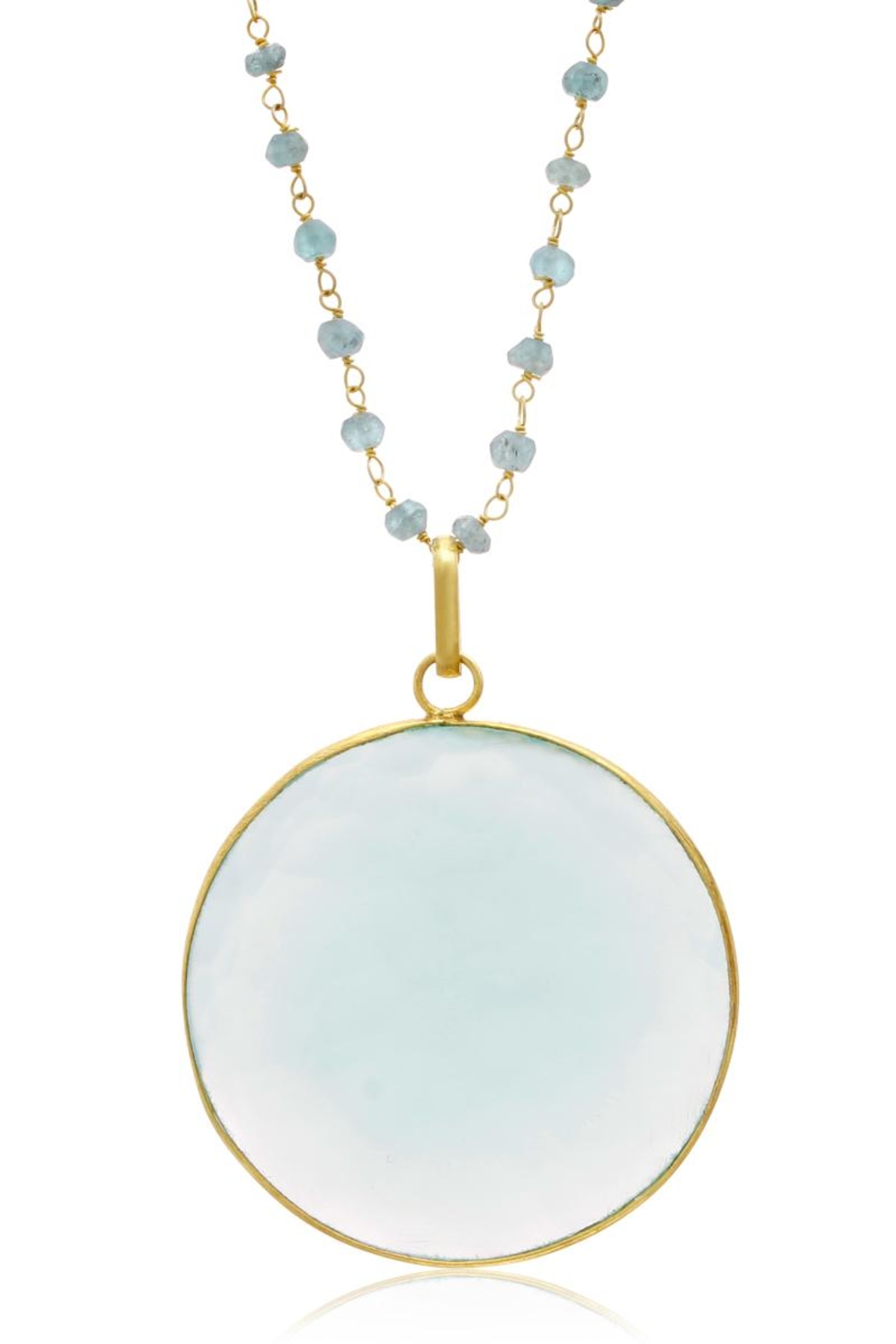 6th Borough Boutique Chalcedony Disc Necklace - Front Full Image