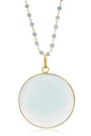 6th Borough Boutique Chalcedony Disc Necklace - Front full body