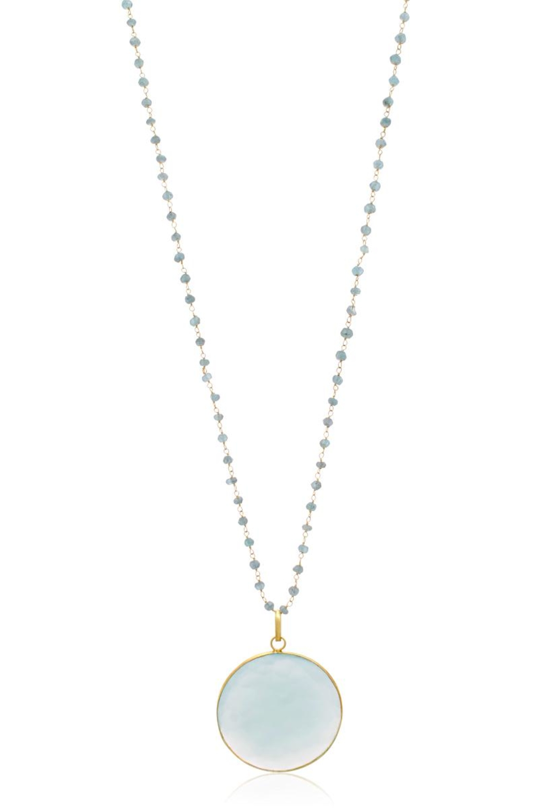 6th Borough Boutique Chalcedony Disc Necklace - Main Image