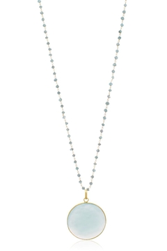 Shoptiques Product: Chalcedony Disc Necklace