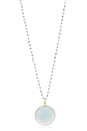 6th Borough Boutique Chalcedony Disc Necklace - Product Mini Image