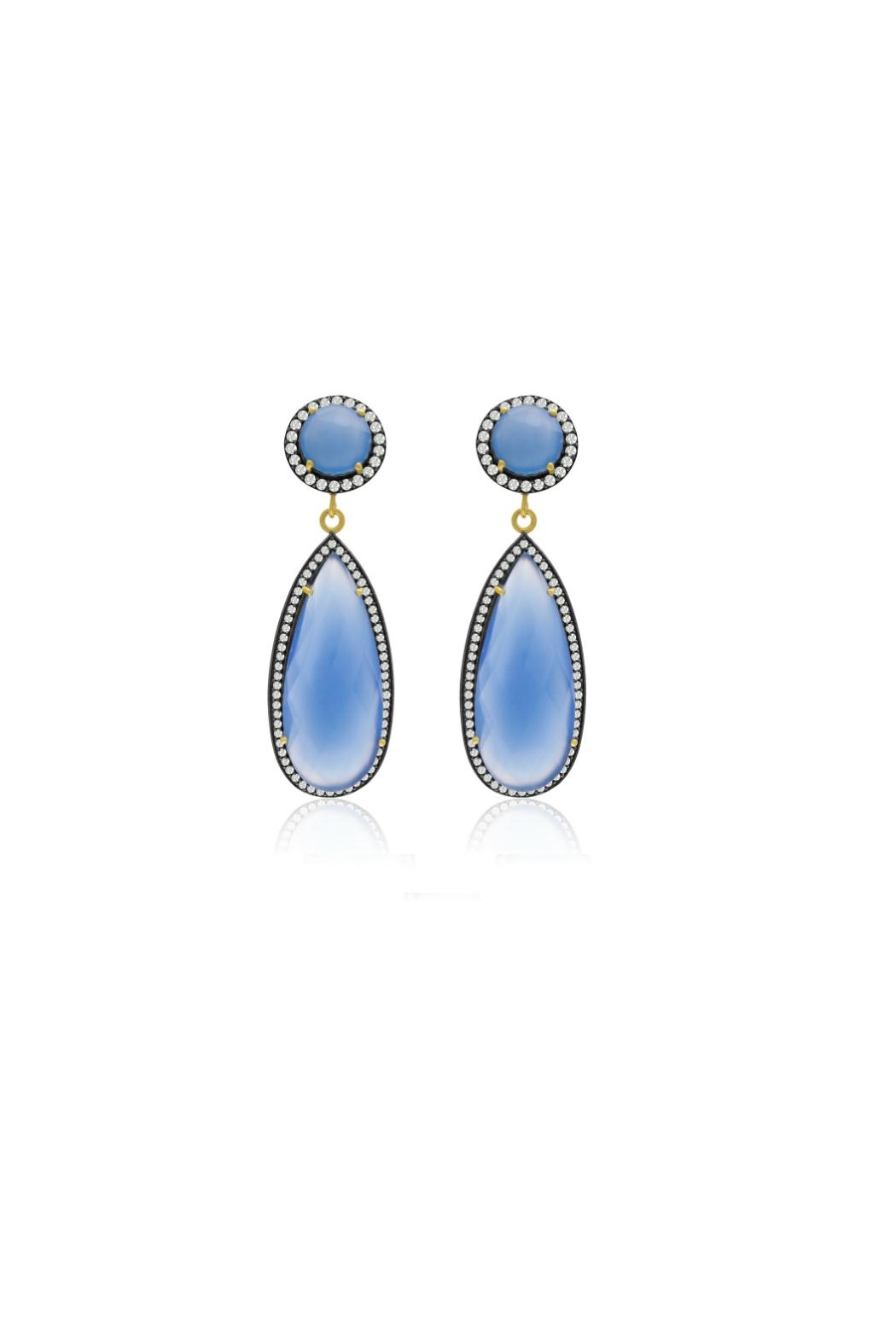 6th Borough Boutique Chalcedony Tina Earrings - Main Image