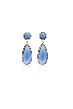 6th Borough Boutique Chalcedony Tina Earrings - Product List Image