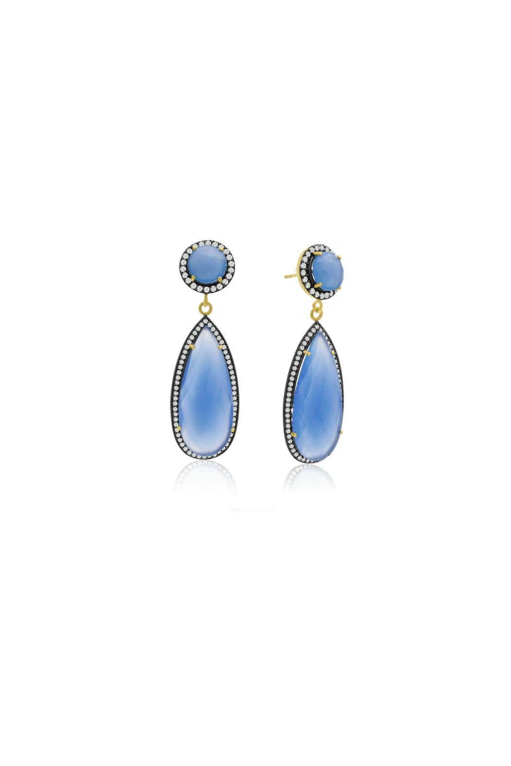 6th Borough Boutique Chalcedony Tina Earrings - Front Full Image