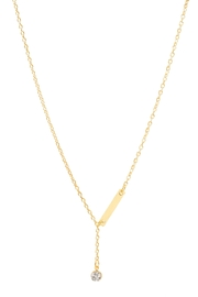 6th Borough Boutique Crystal Lariat Necklace - Product Mini Image