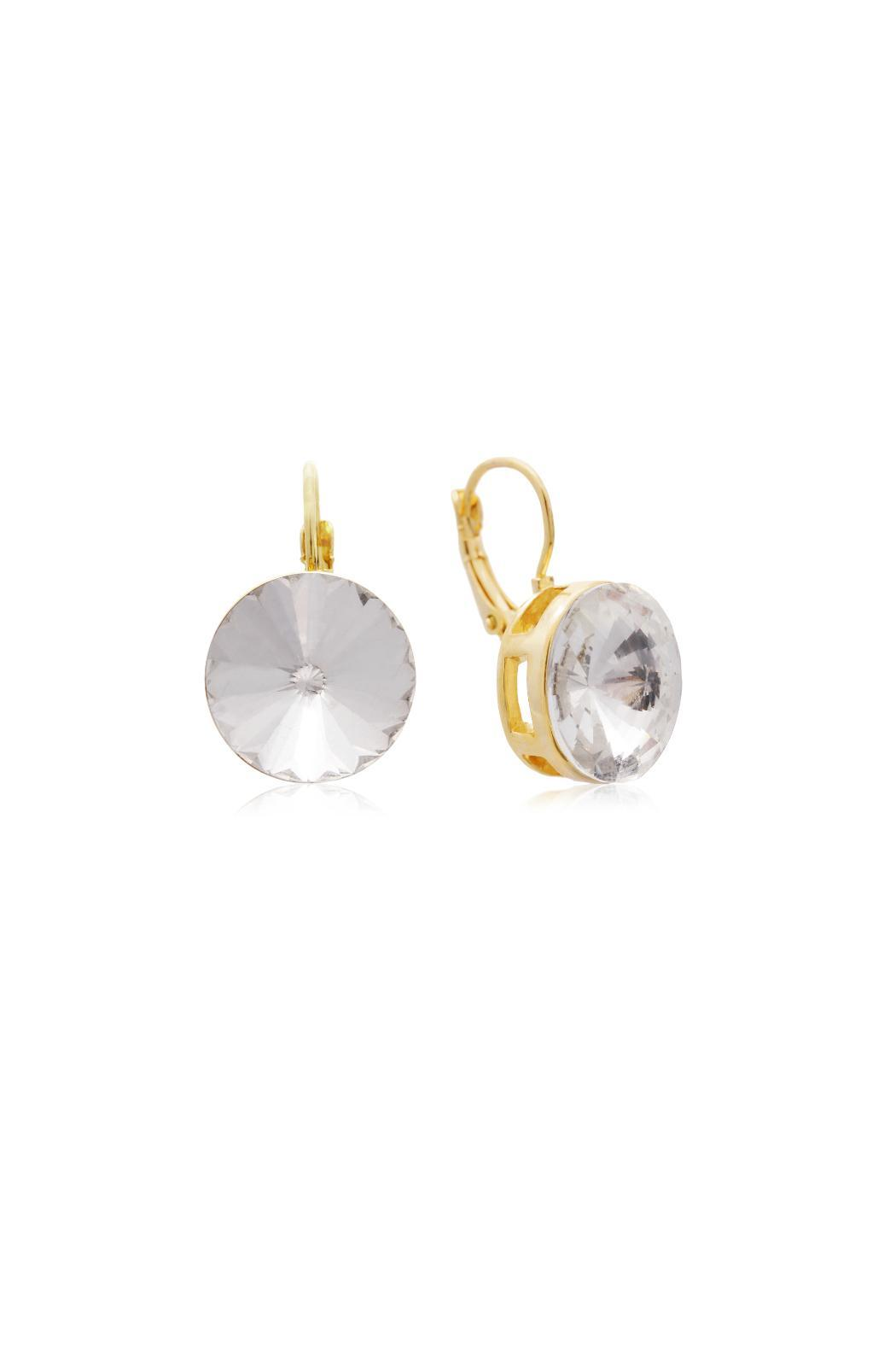 6th Borough Boutique Crystal Leverback Earrings - Main Image