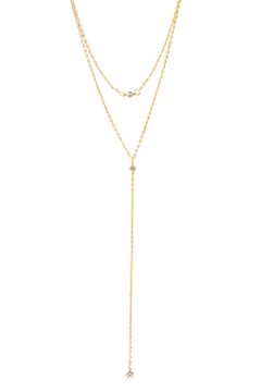 Shoptiques Product: Crystal Strand Lariat Necklace