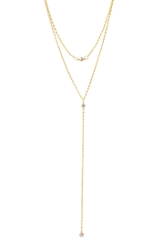6th Borough Boutique Crystal Strand Lariat Necklace - Product Mini Image