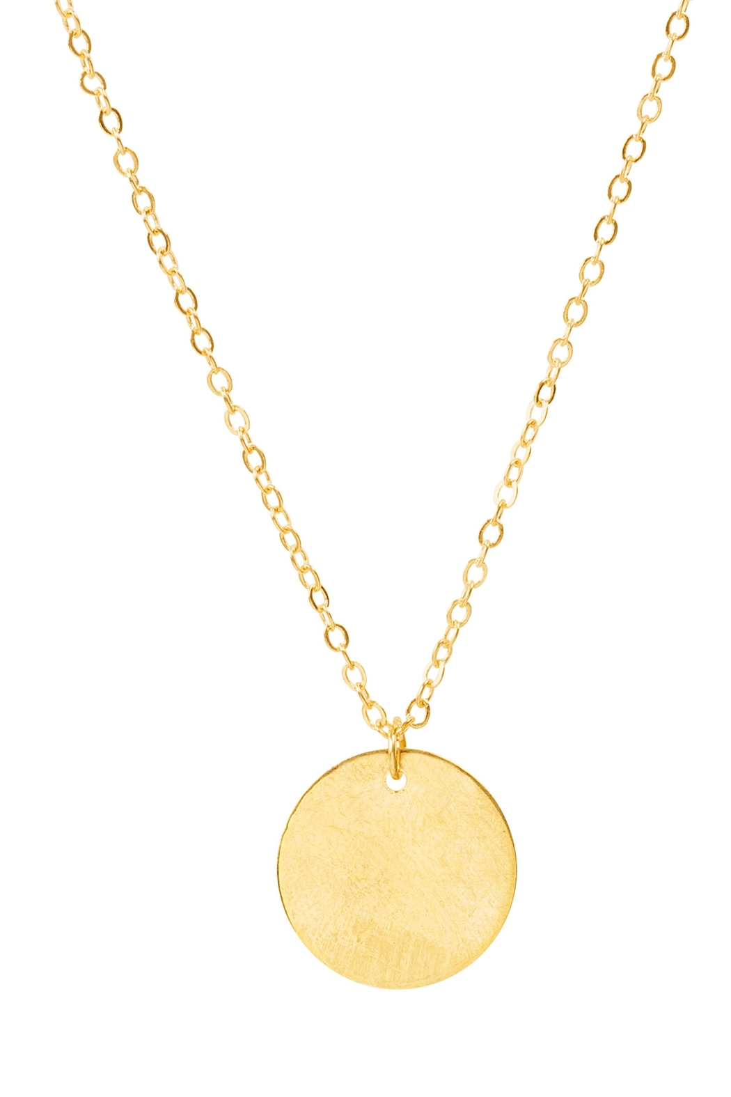6th Borough Boutique Dainty Disc Necklace - Front Full Image