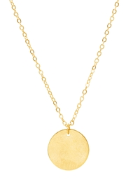 6th Borough Boutique Dainty Disc Necklace - Front full body
