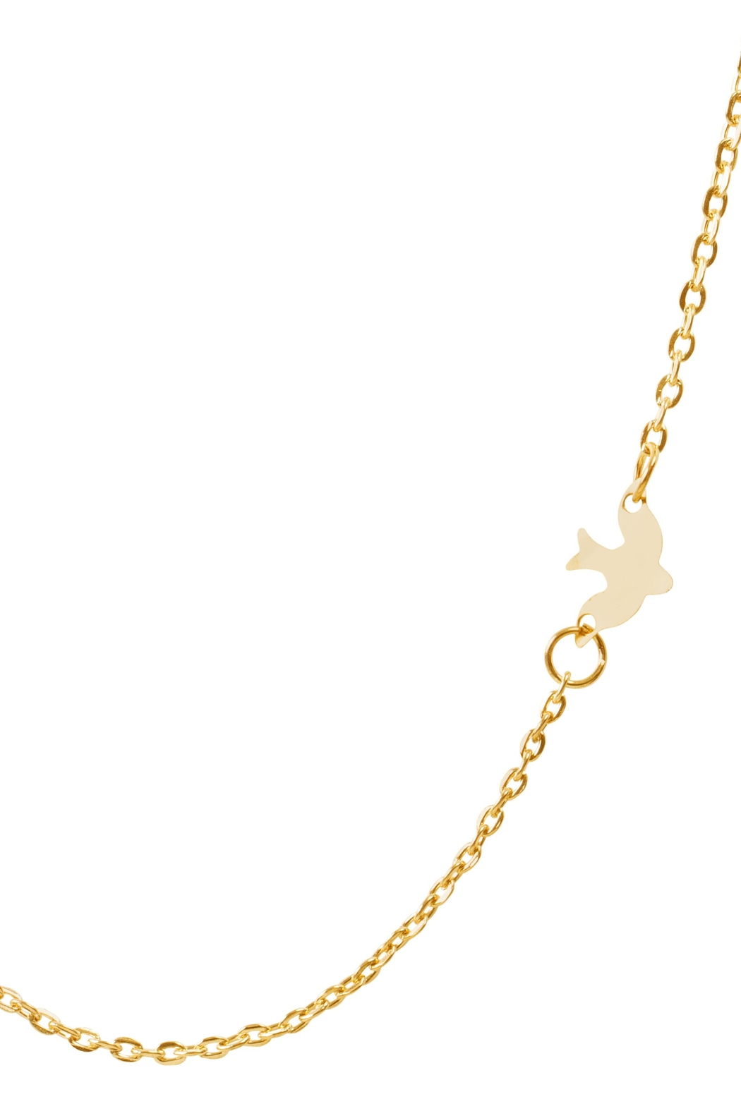 6th Borough Boutique Dainty Dove Necklace - Front Full Image