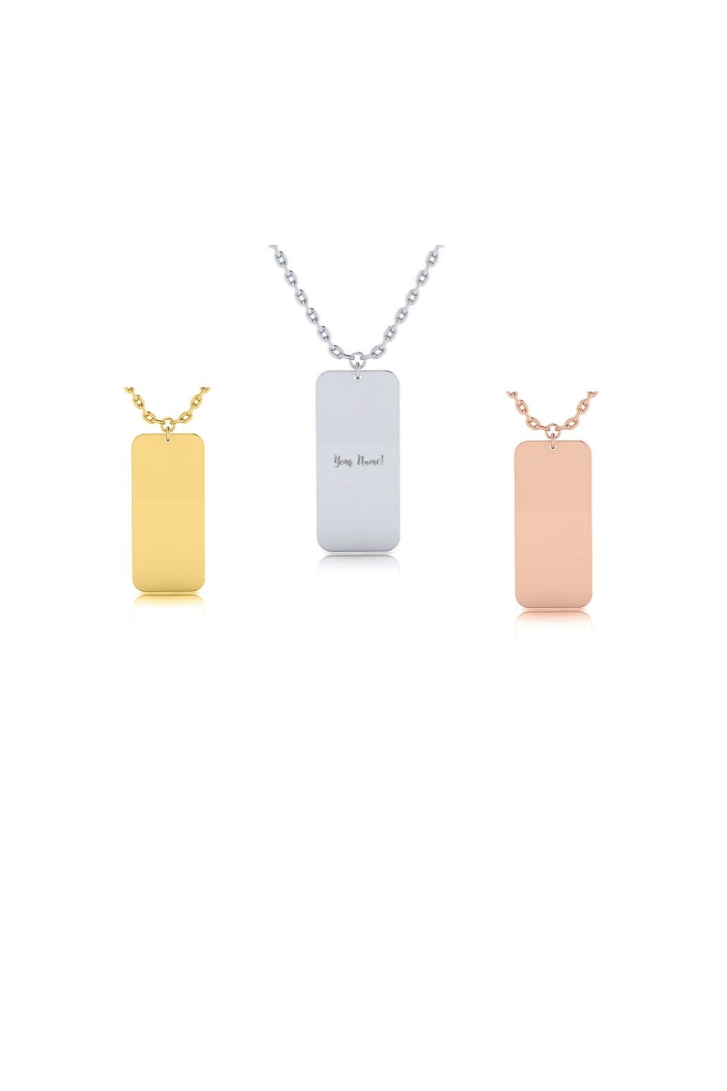 4dc212b70f027c 6th Borough Boutique Engraved Nameplate Necklace - Front Cropped Image