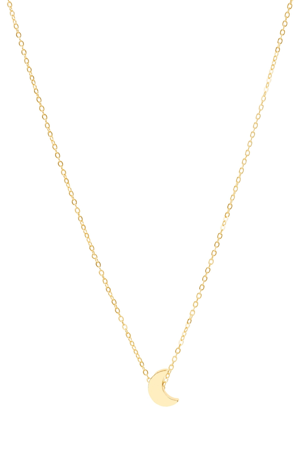 6th Borough Boutique Dainty Moon Necklace - Front Full Image