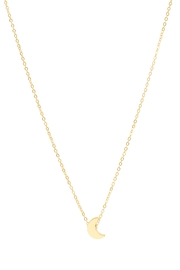 6th Borough Boutique Dainty Moon Necklace - Front full body