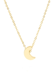 6th Borough Boutique Dainty Moon Necklace - Product Mini Image