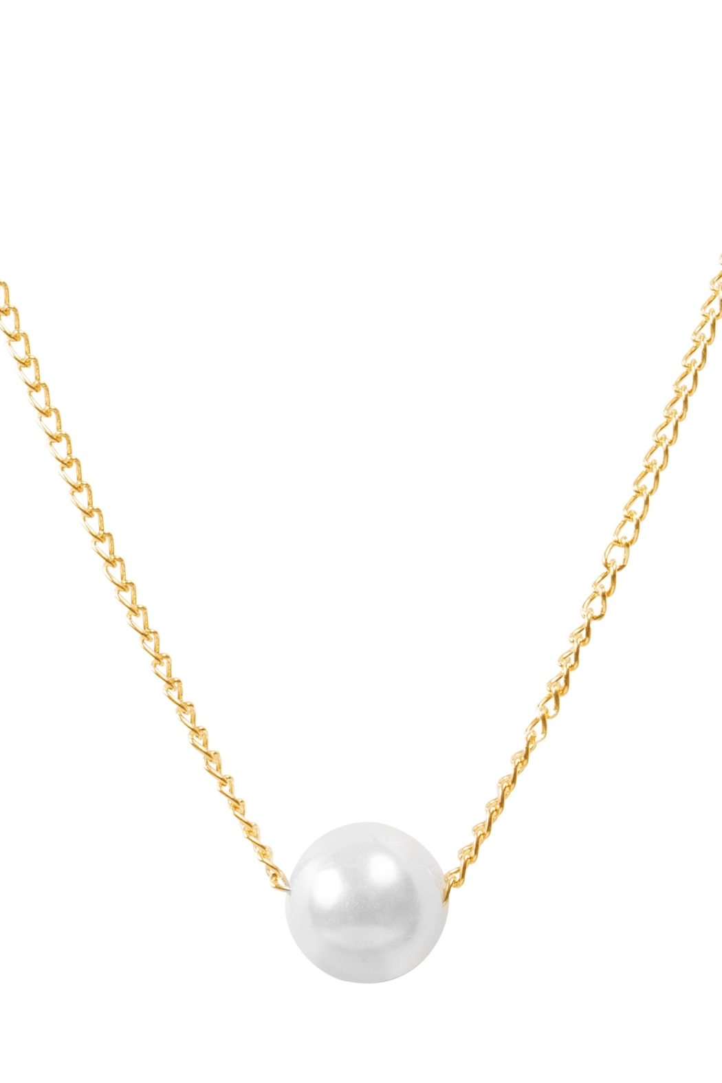 6th Borough Boutique Dainty Pearl Necklace - Front Full Image