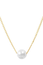 6th Borough Boutique Dainty Pearl Necklace - Front full body