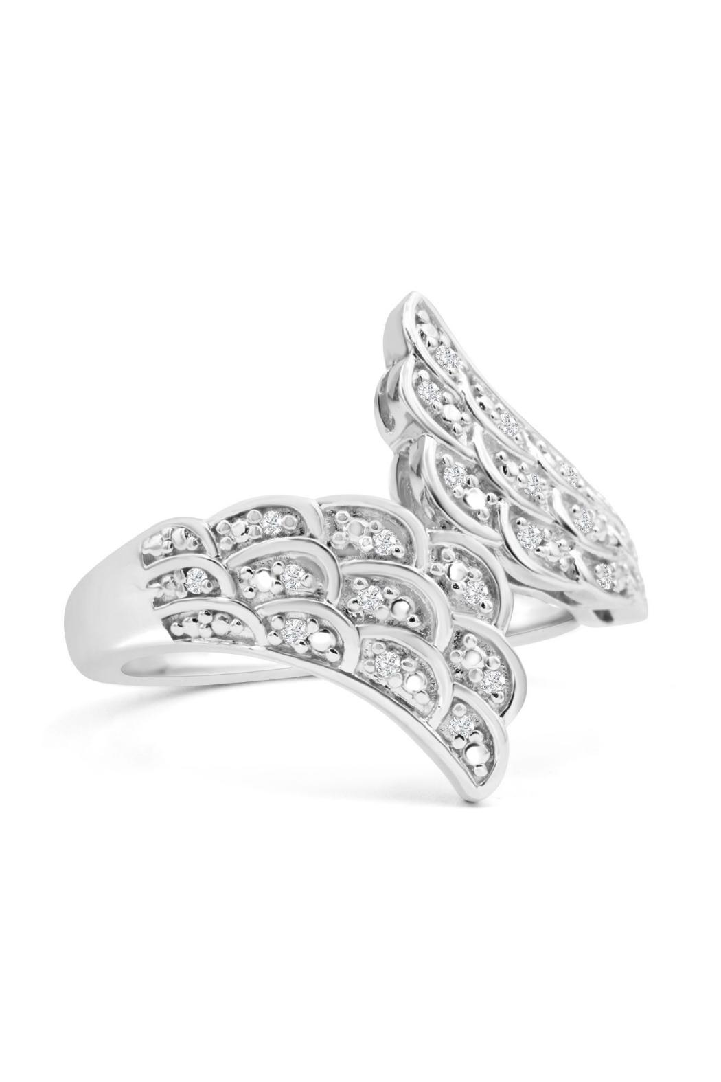 6th Borough Boutique Diamond Angel Ring - Front Full Image