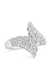 6th Borough Boutique Diamond Angel Ring - Front full body