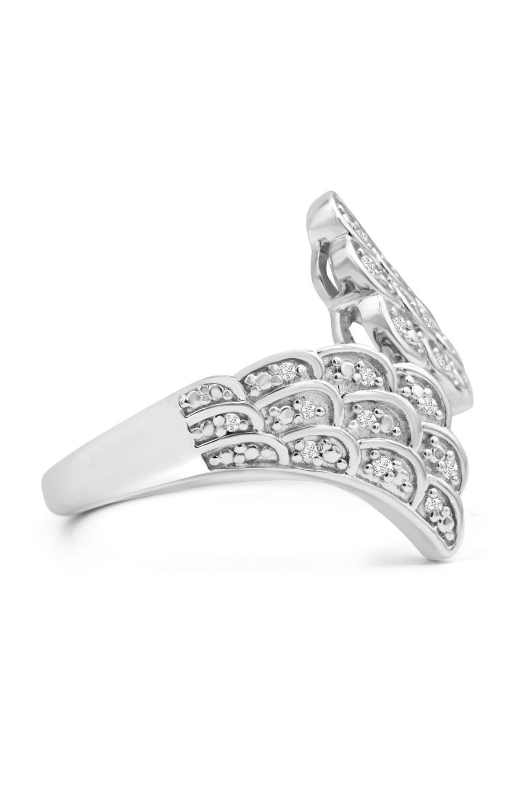 6th Borough Boutique Diamond Angel Ring - Side Cropped Image