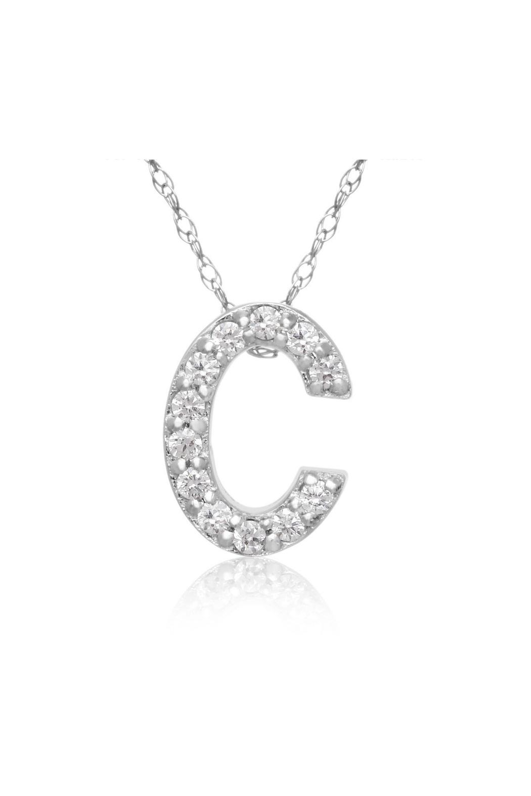 6th borough boutique diamond initial necklace from manhattan 6th borough boutique diamond initial necklace side cropped image aloadofball Gallery