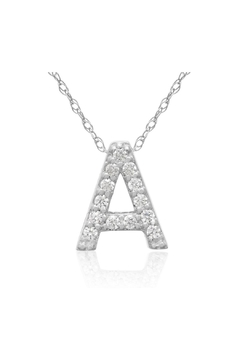 6th Borough Boutique Diamond Initial Necklace - Product List Image