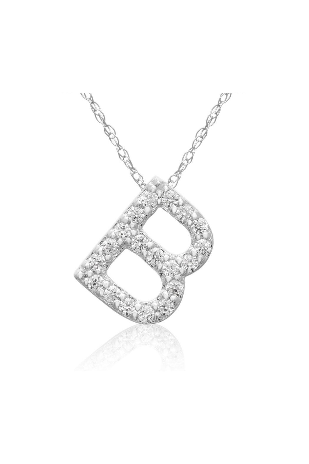 6th Borough Boutique Diamond Initial Necklace - Front Full Image